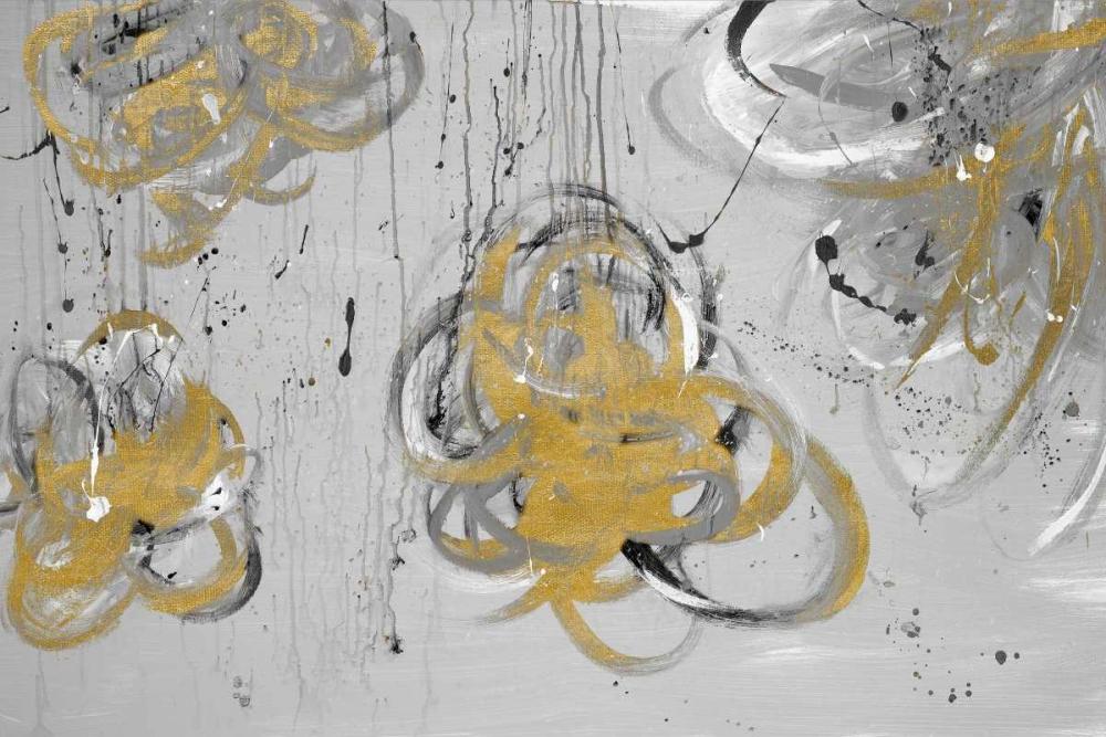 konfigurieren des Kunstdrucks in Wunschgröße Forms of Gray and Gold von Einzelbilder
