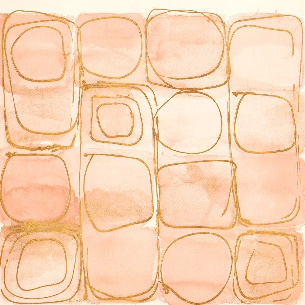 konfigurieren des Kunstdrucks in Wunschgröße Circular Squares of Peach von Loreth, Lanie