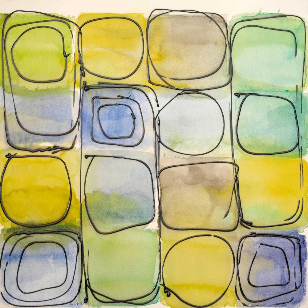 konfigurieren des Kunstdrucks in Wunschgröße Circular Square I von Loreth, Lanie