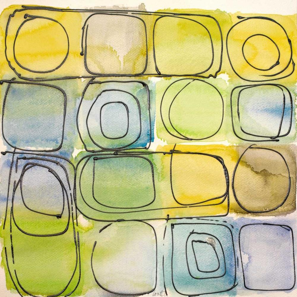 konfigurieren des Kunstdrucks in Wunschgröße Circular Square II von Loreth, Lanie