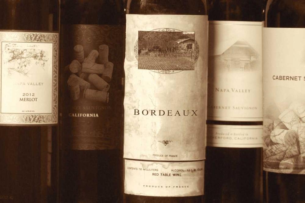 konfigurieren des Kunstdrucks in Wunschgröße Wine Labels von Peck, Gail