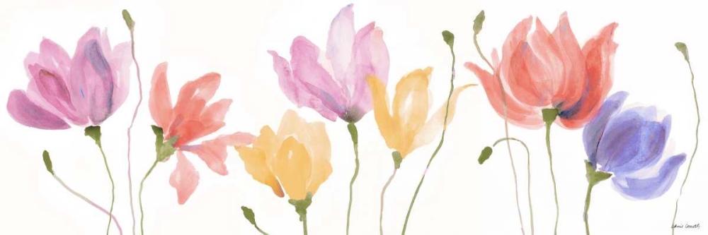 konfigurieren des Kunstdrucks in Wunschgröße Colorful Floral Sway Panel von Loreth, Lanie