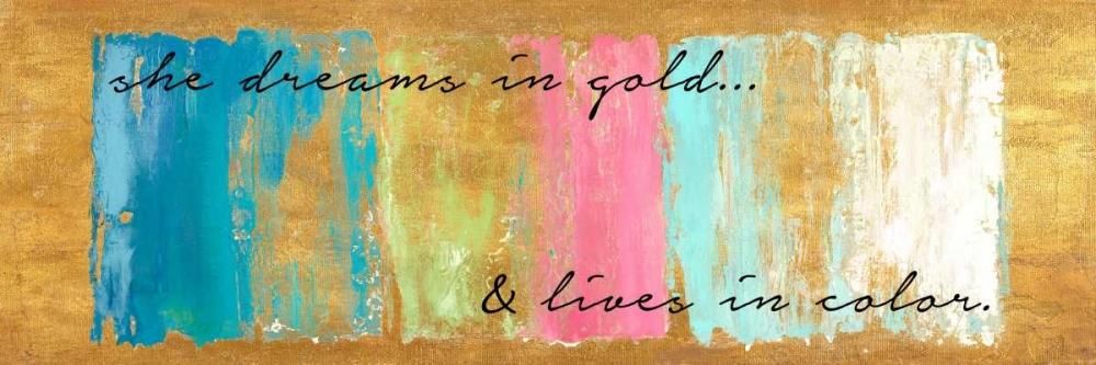 konfigurieren des Kunstdrucks in Wunschgröße Golden Dreams von Pinto, Patricia