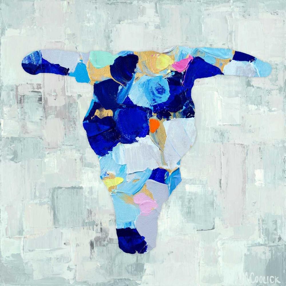konfigurieren des Kunstdrucks in Wunschgröße Mosaic Bull Skull von Coolick, Ann Marie