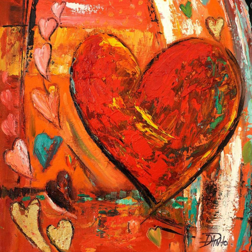 konfigurieren des Kunstdrucks in Wunschgröße Hippie Hearts I von Pinto, Patricia