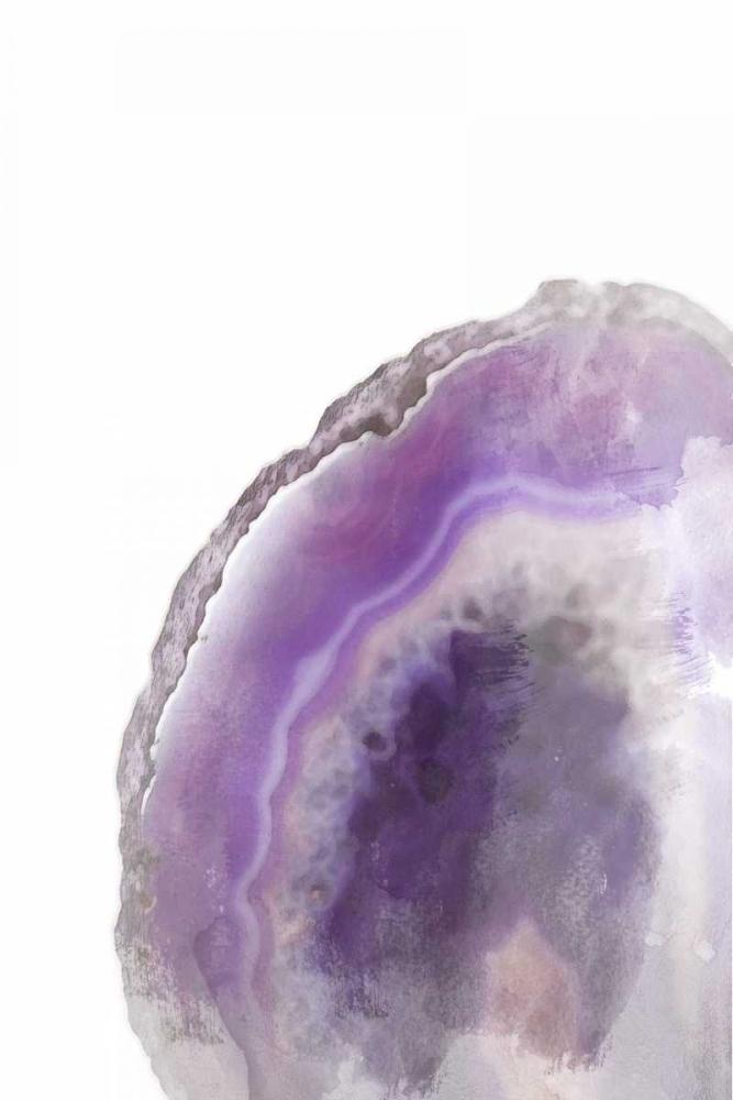 konfigurieren des Kunstdrucks in Wunschgröße Purple Watercolor Agate Rectangle von Bryant, Susan