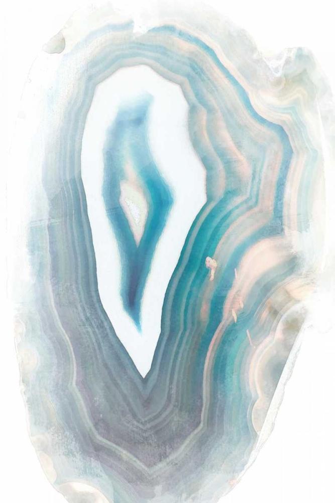 konfigurieren des Kunstdrucks in Wunschgröße Blue Watercolor Agate Rectangle von Bryant, Susan