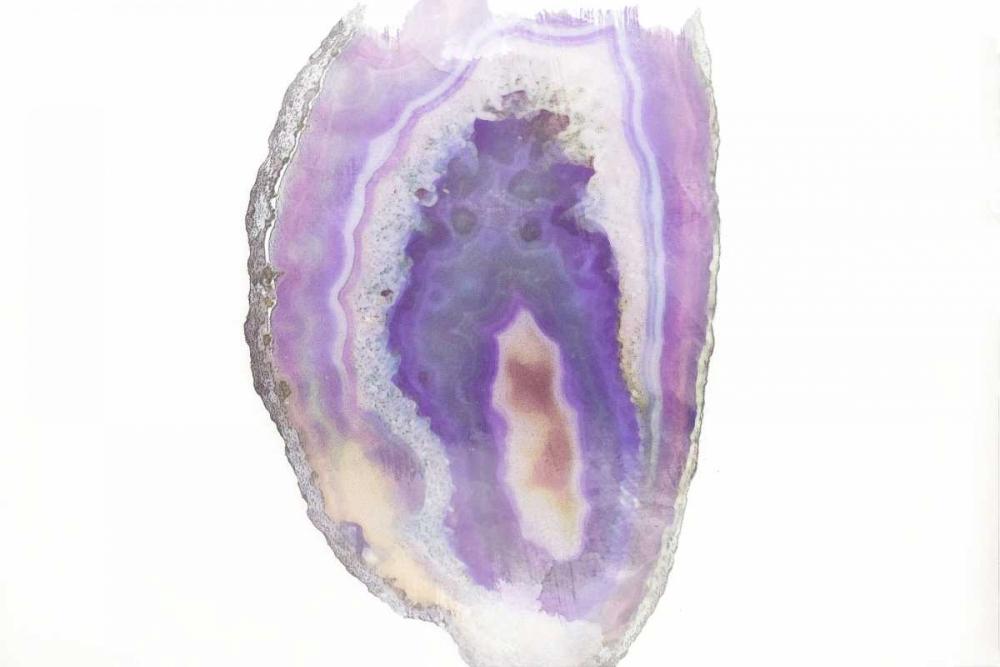 konfigurieren des Kunstdrucks in Wunschgröße Purple Watercolor Agate I von Bryant, Susan