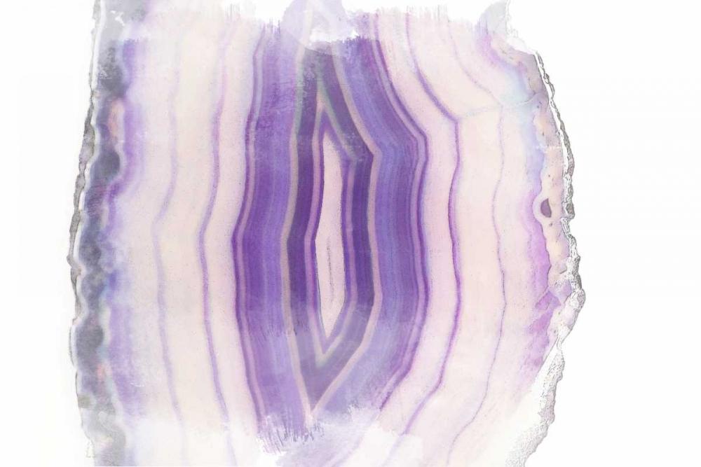 konfigurieren des Kunstdrucks in Wunschgröße Purple Watercolor Agate II von Bryant, Susan