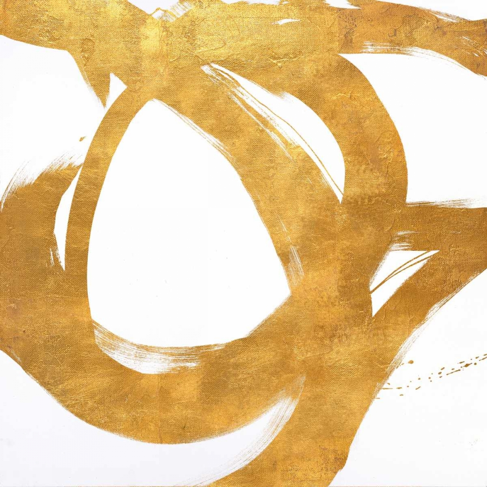 konfigurieren des Kunstdrucks in Wunschgröße Gold Circular Strokes I von Morris, Megan