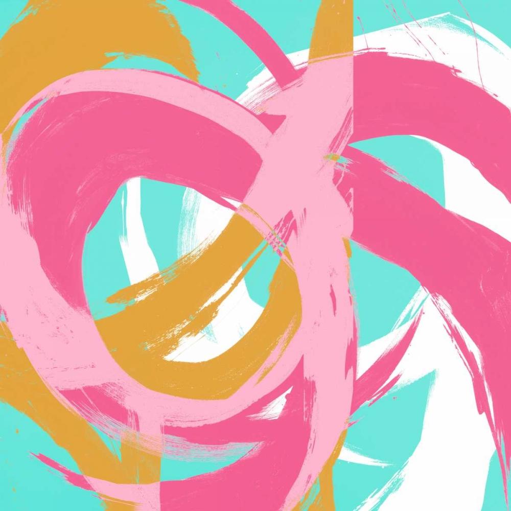 konfigurieren des Kunstdrucks in Wunschgröße Pink Circular Strokes II von Morris, Megan