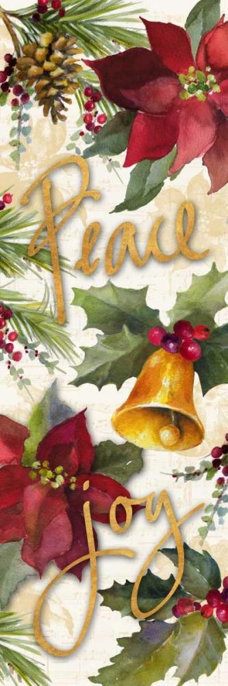 konfigurieren des Kunstdrucks in Wunschgröße Christmas Poinsettia Panel II von Loreth, Lanie