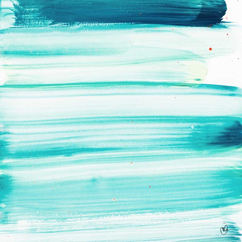 konfigurieren des Kunstdrucks in Wunschgröße Blue Color Study I von Papa, Kat