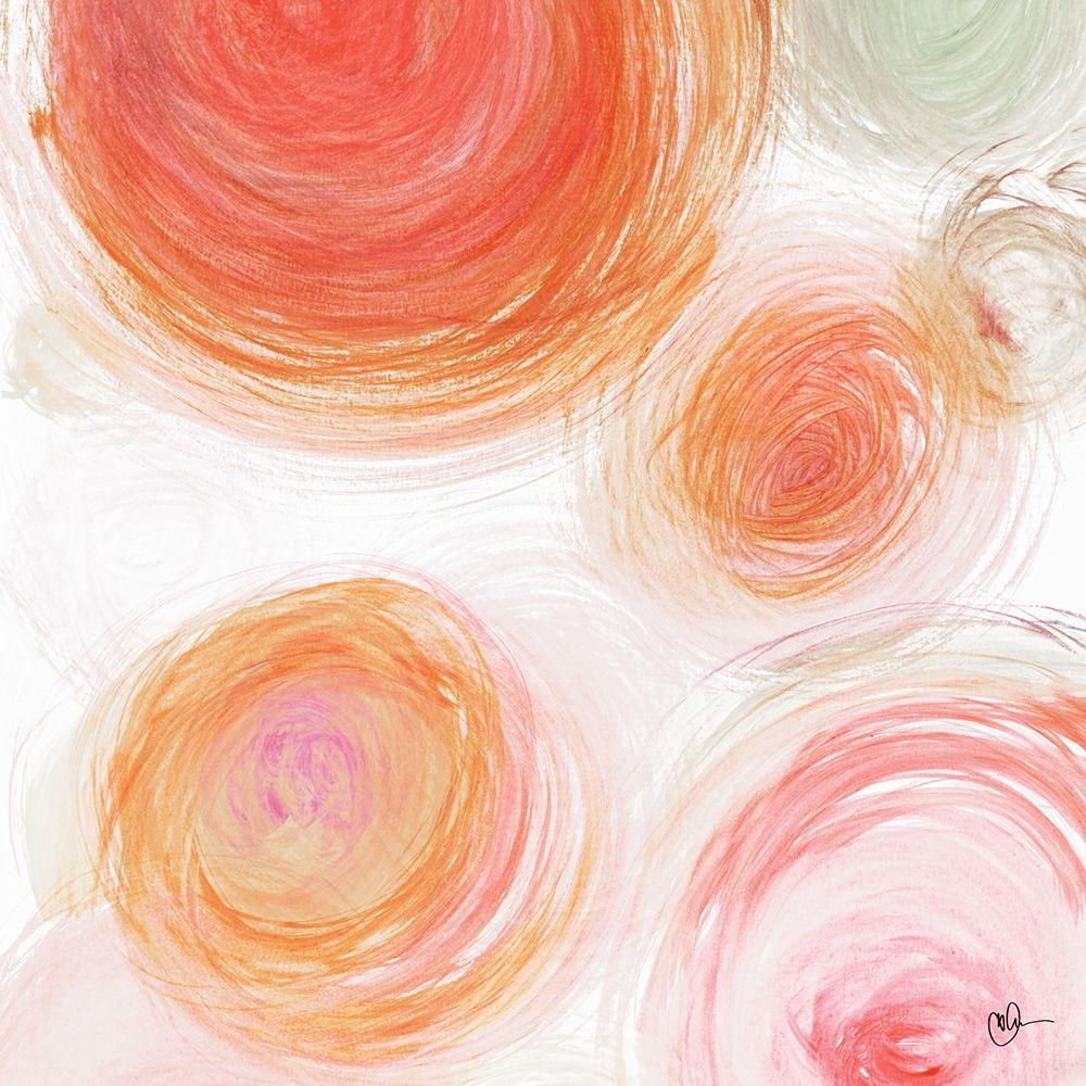 konfigurieren des Kunstdrucks in Wunschgröße Orange Contempo Light Circles von Papa, Kat
