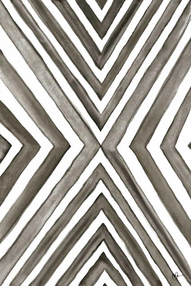 konfigurieren des Kunstdrucks in Wunschgröße Angled Black and White von Papa, Kat