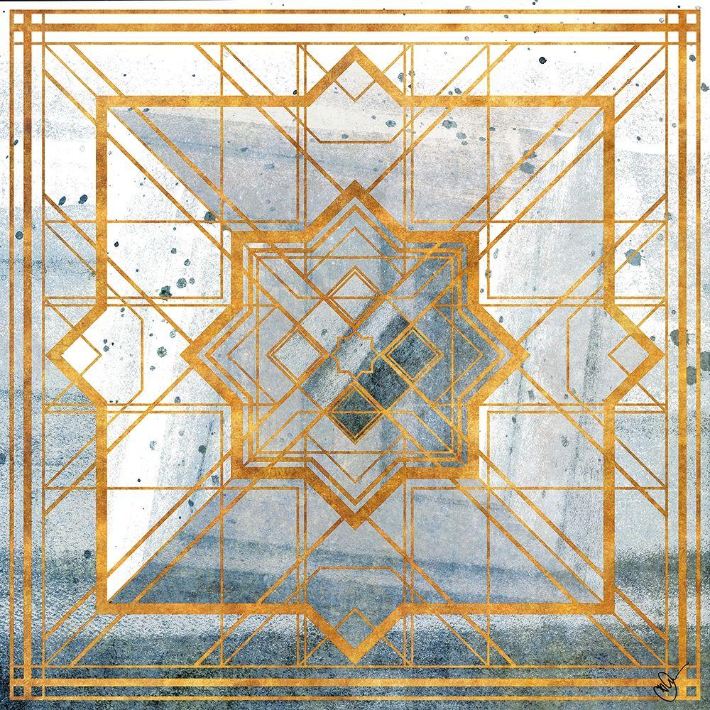 konfigurieren des Kunstdrucks in Wunschgröße Deco Square I von Papa, Kat