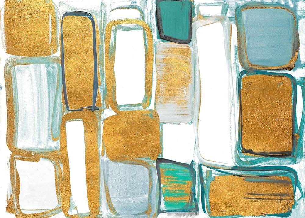 konfigurieren des Kunstdrucks in Wunschgröße Gold Standing Imitation I von Loreth, Lanie