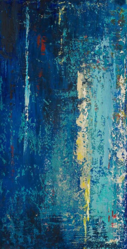 konfigurieren des Kunstdrucks in Wunschgröße Deep Blue Abstract von Pinto, Patricia