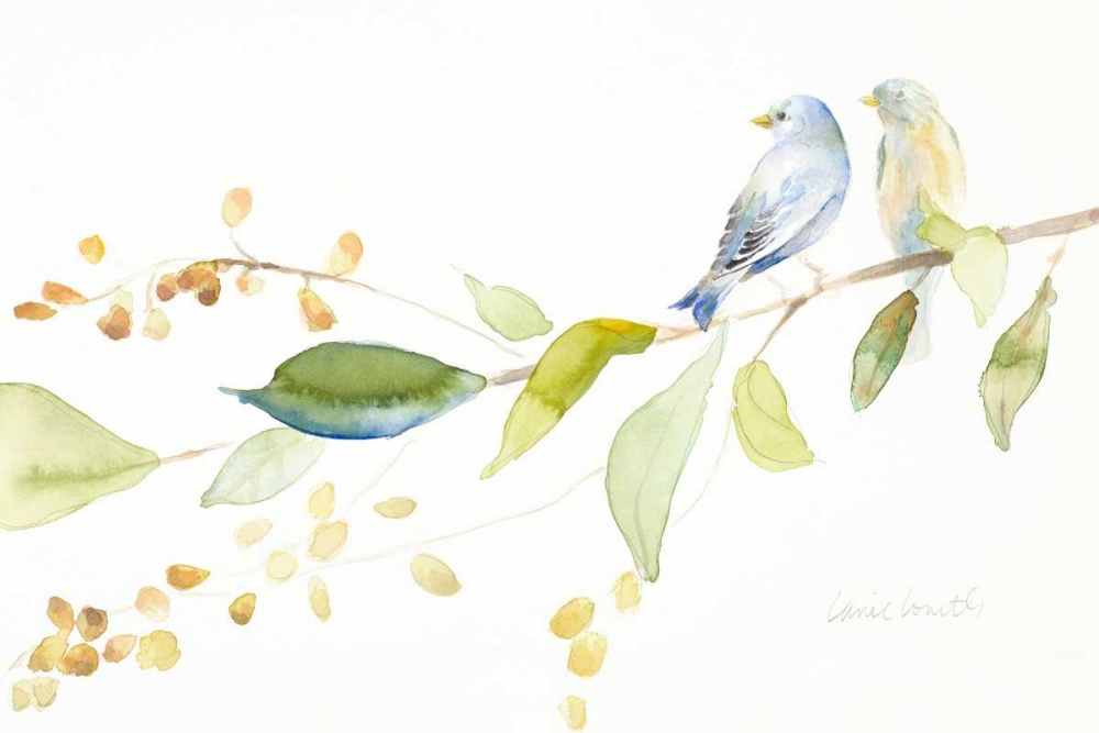 konfigurieren des Kunstdrucks in Wunschgröße Together Forever Birds von Loreth, Lanie