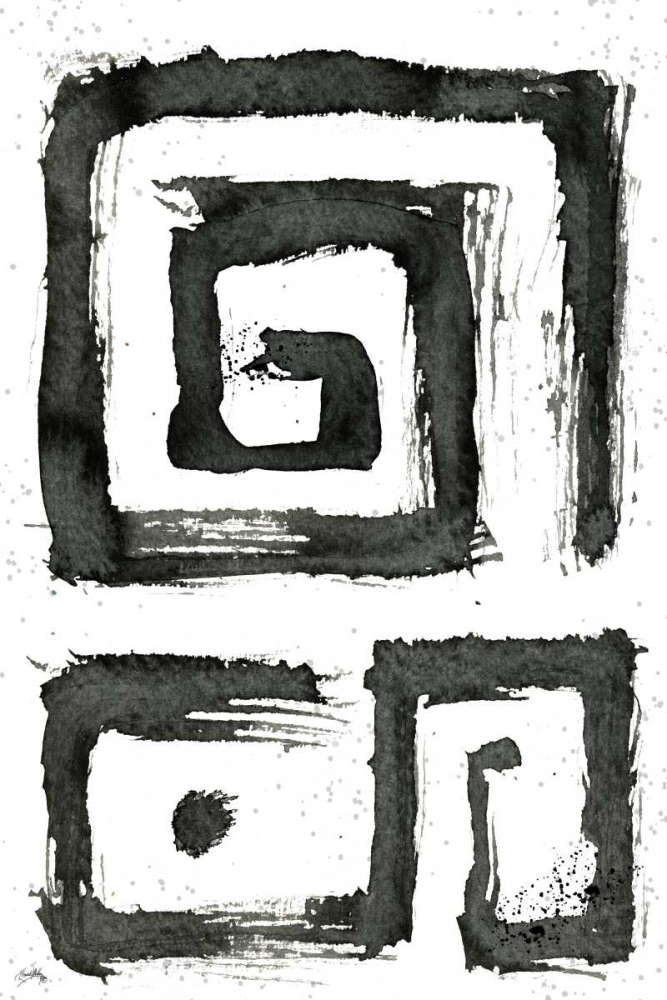 konfigurieren des Kunstdrucks in Wunschgröße Tribal Swirls III von Medley, Elizabeth