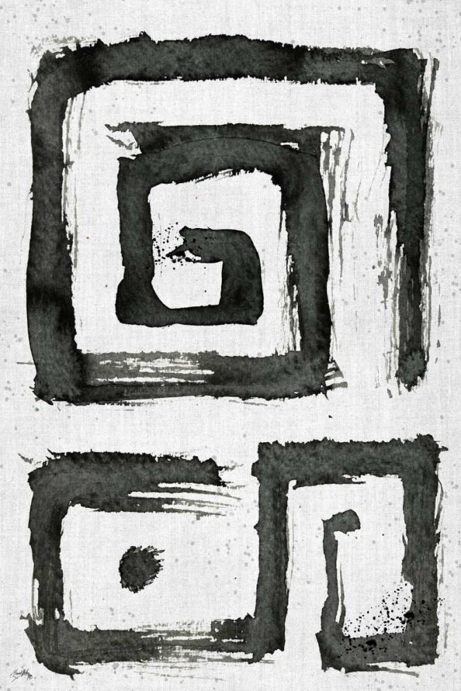 konfigurieren des Kunstdrucks in Wunschgröße Tribal Swirls I von Medley, Elizabeth