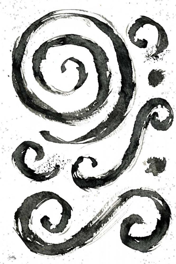 konfigurieren des Kunstdrucks in Wunschgröße Tribal Swirls IV von Medley, Elizabeth