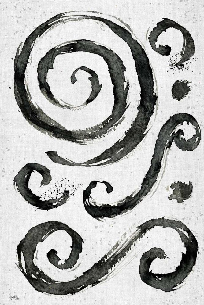 konfigurieren des Kunstdrucks in Wunschgröße Tribal Swirls II von Medley, Elizabeth
