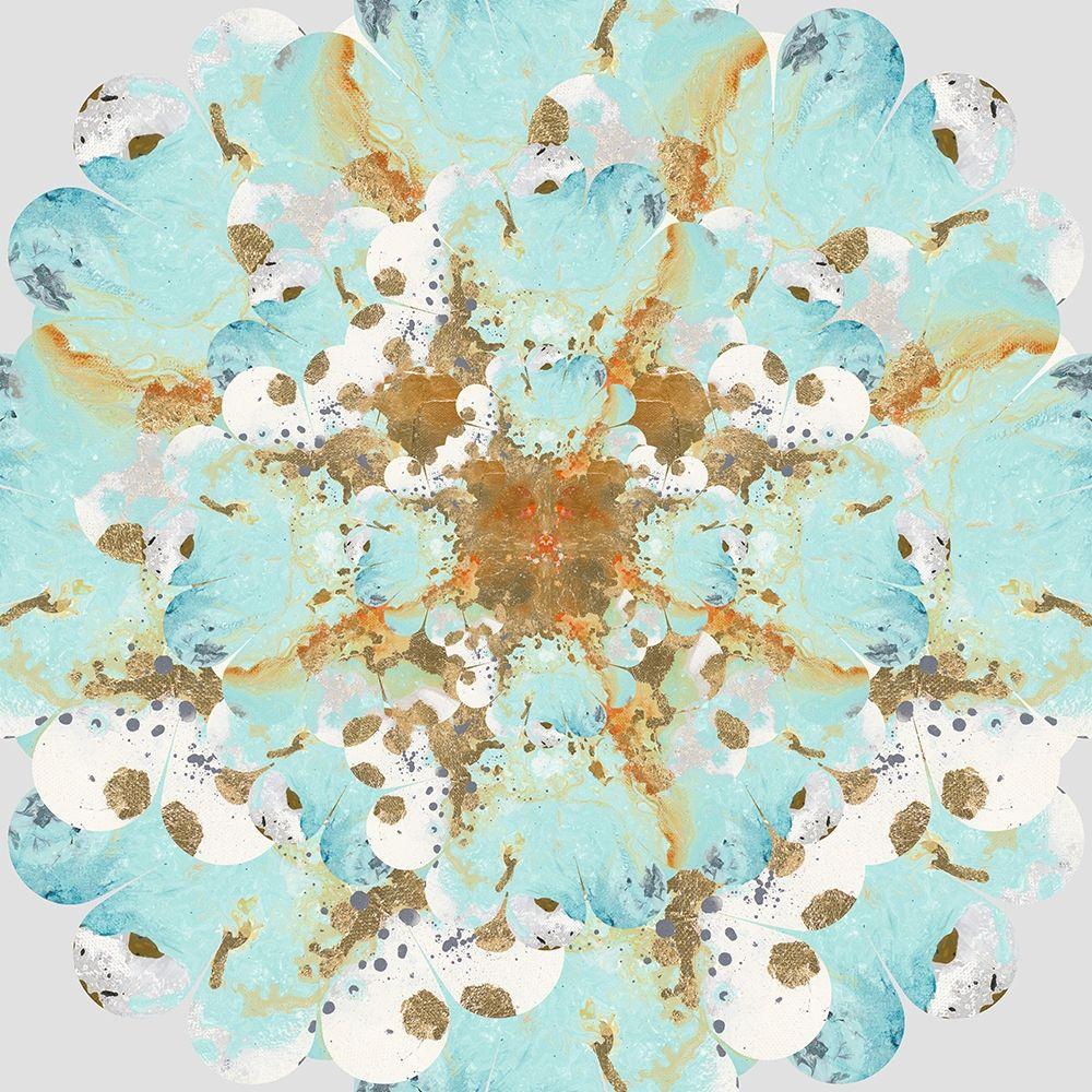 konfigurieren des Kunstdrucks in Wunschgröße Aqua and Gold Splash von Pinto, Patricia