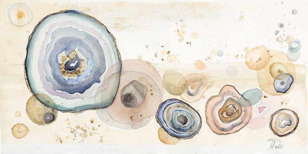konfigurieren des Kunstdrucks in Wunschgröße Agates Flying Watercolor von Pinto, Patricia