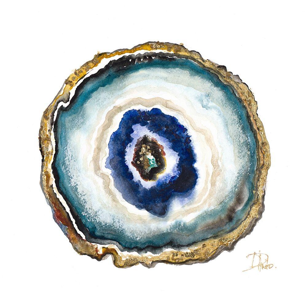 konfigurieren des Kunstdrucks in Wunschgröße Agate Watercolor II von Pinto, Patricia