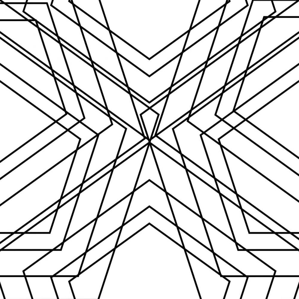 konfigurieren des Kunstdrucks in Wunschgröße Black Geo von SD Graphics Studio