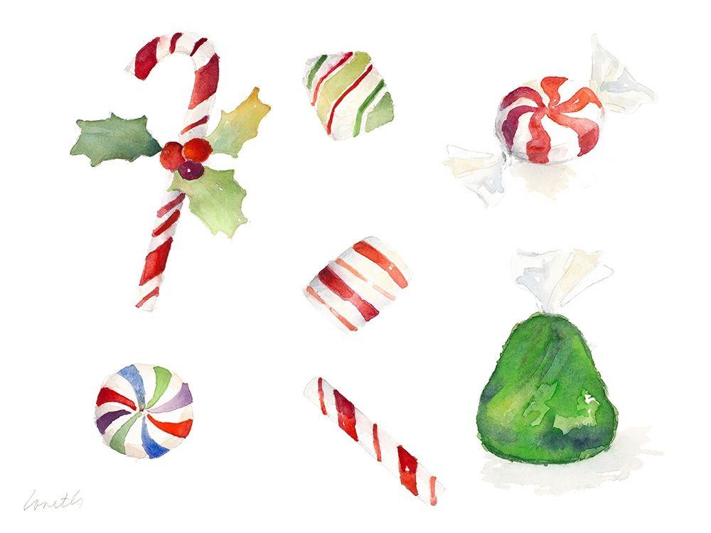 konfigurieren des Kunstdrucks in Wunschgröße Christmas Candies von Loreth, Lanie