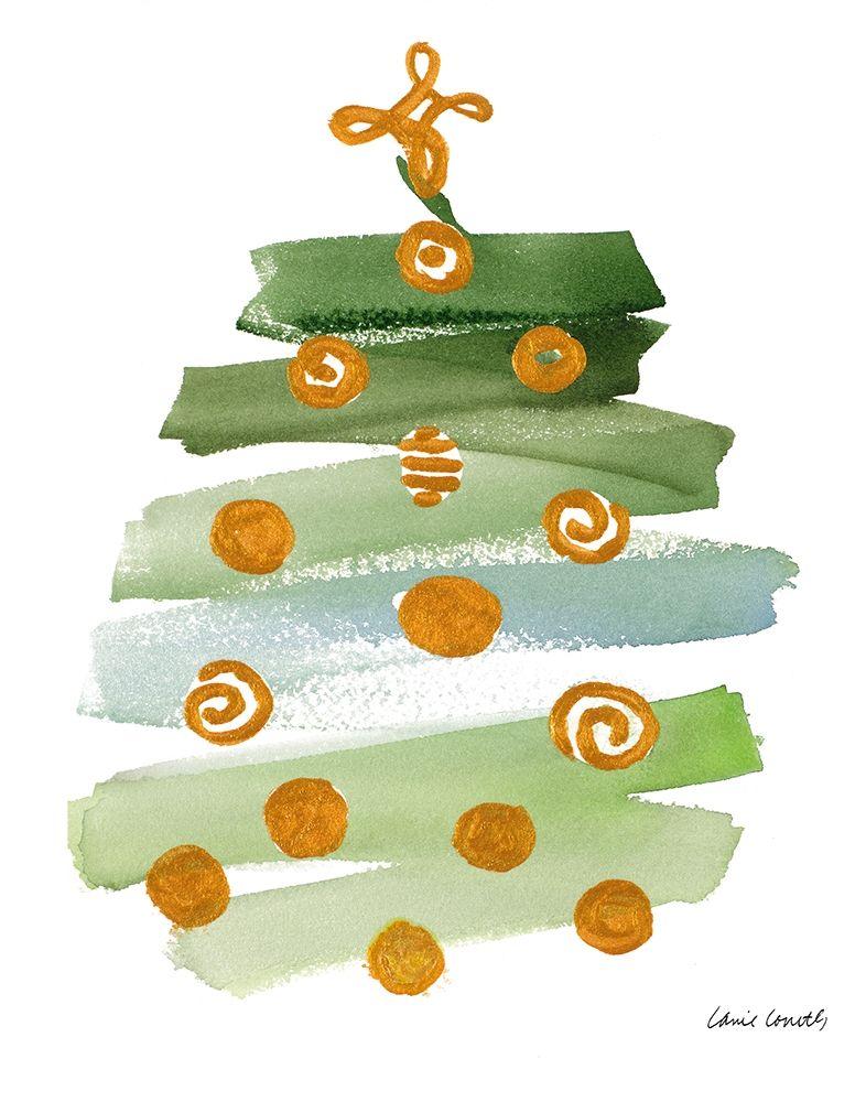 konfigurieren des Kunstdrucks in Wunschgröße Abstract Christmas Tree I von Loreth, Lanie