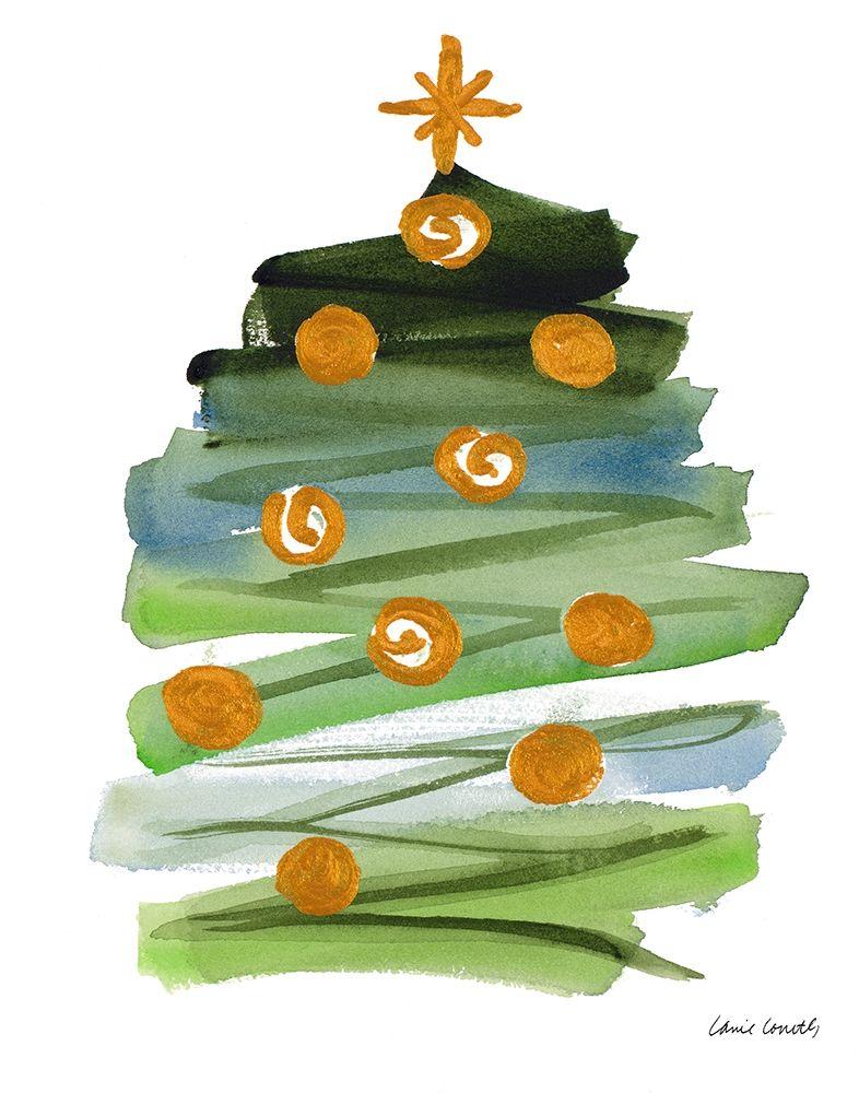 konfigurieren des Kunstdrucks in Wunschgröße Abstract Christmas Tree II von Loreth, Lanie