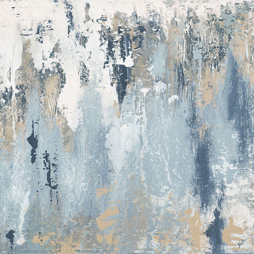 konfigurieren des Kunstdrucks in Wunschgröße Blue Illusion Square III von Pinto, Patricia