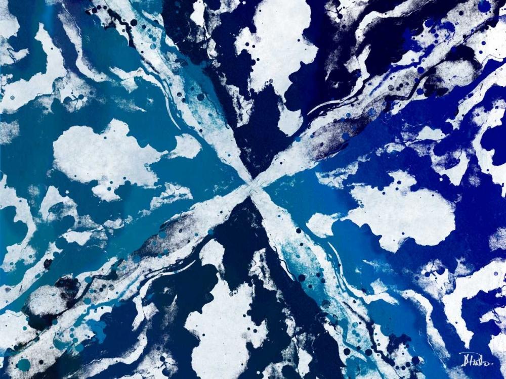 konfigurieren des Kunstdrucks in Wunschgröße Blue Starburst von Pinto, Patricia