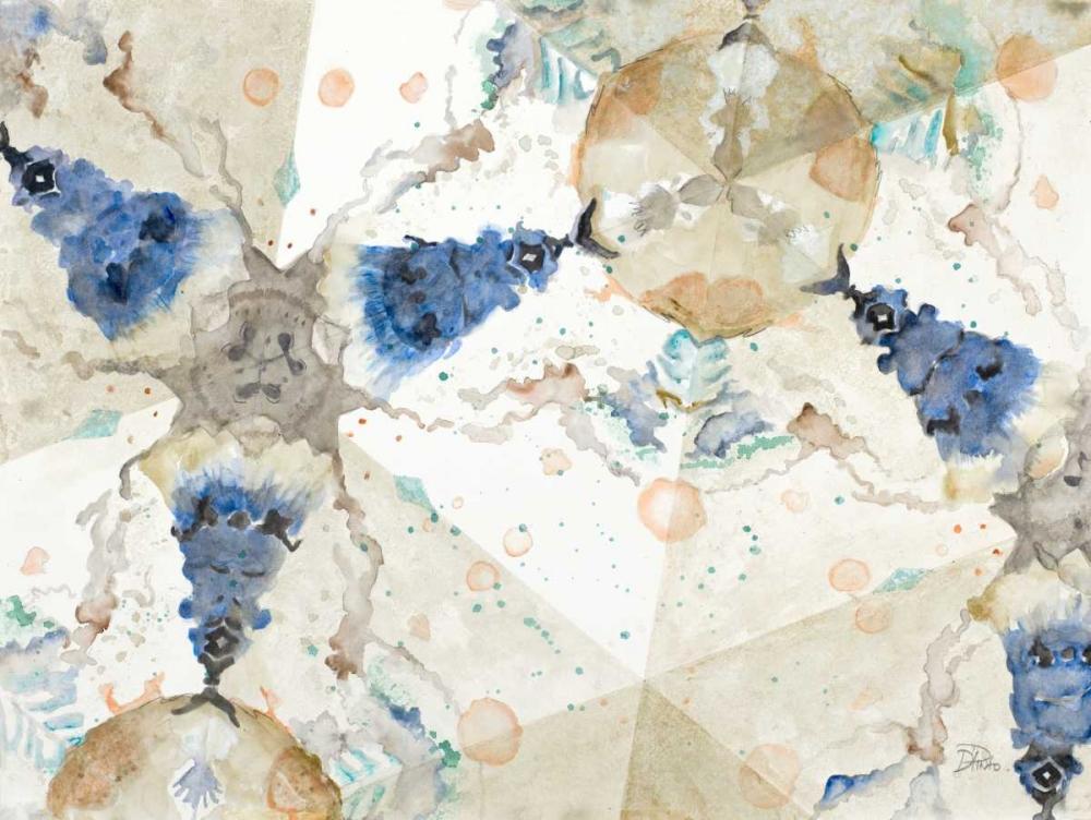 konfigurieren des Kunstdrucks in Wunschgröße Watercolor Kaleidoscope von Pinto, Patricia