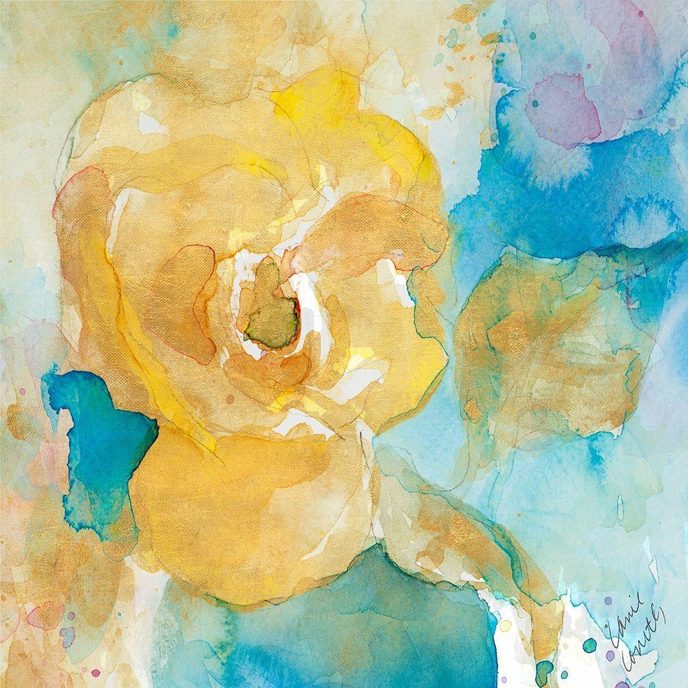konfigurieren des Kunstdrucks in Wunschgröße Abstract Vase of Flowers Square von Loreth, Lanie