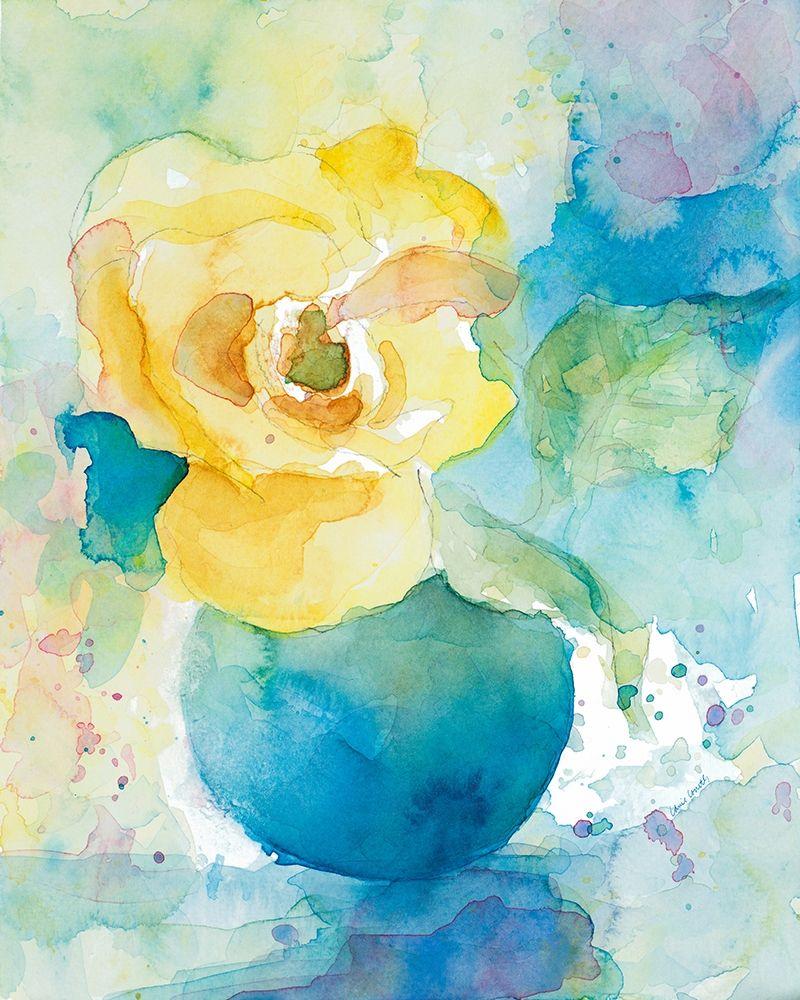 konfigurieren des Kunstdrucks in Wunschgröße Abstract Vase of Flowers I von Loreth, Lanie