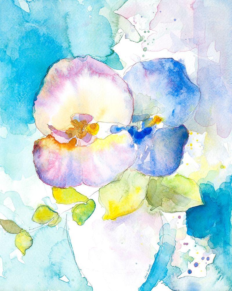 konfigurieren des Kunstdrucks in Wunschgröße Abstract Vase of Flowers II von Loreth, Lanie