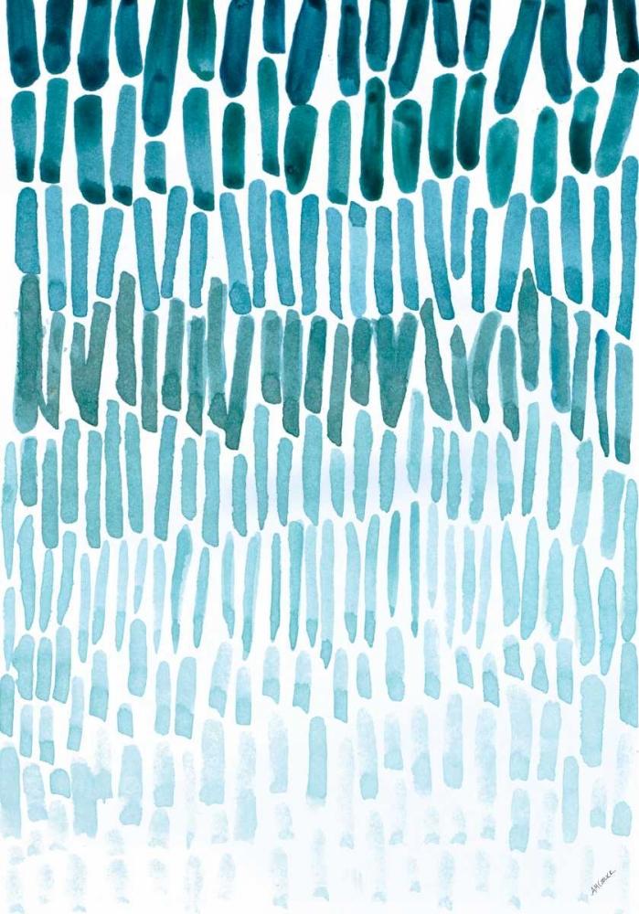 konfigurieren des Kunstdrucks in Wunschgröße Watercolor Raindrops von Coolick, Ann Marie