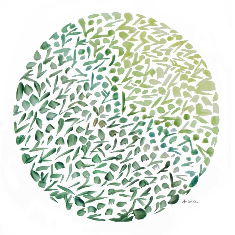 konfigurieren des Kunstdrucks in Wunschgröße Circle Garden II von Coolick, Ann Marie