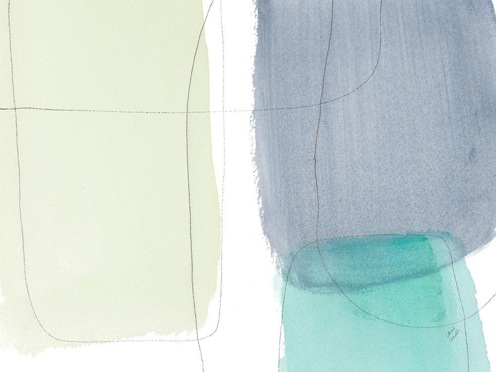 konfigurieren des Kunstdrucks in Wunschgröße Teal and Grey Abstract II von Loreth, Lanie