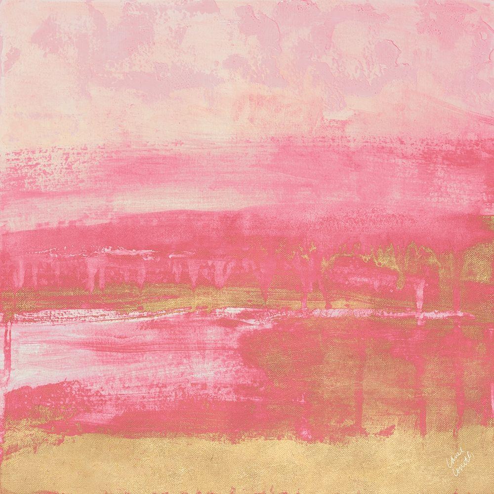 konfigurieren des Kunstdrucks in Wunschgröße Pink and Gold Abstract von Loreth, Lanie