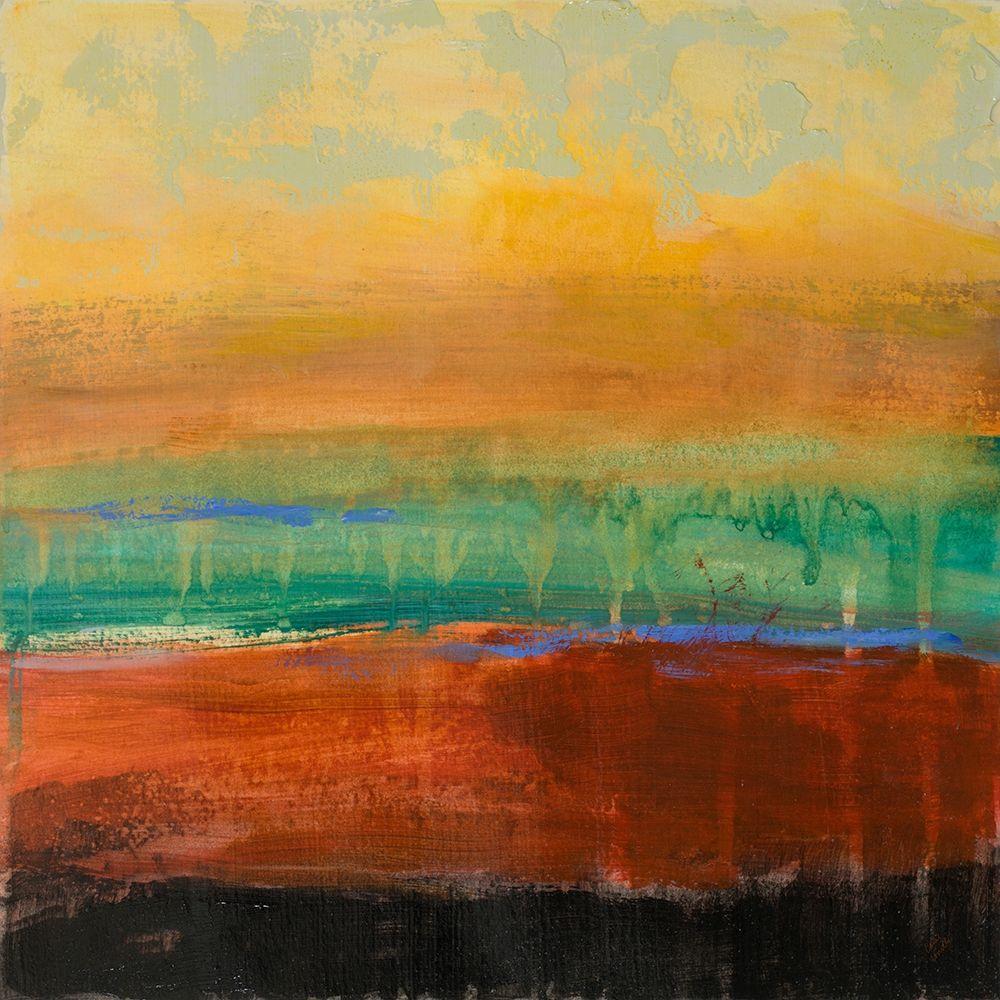 konfigurieren des Kunstdrucks in Wunschgröße Red Green Yellow Abstract von Loreth, Lanie