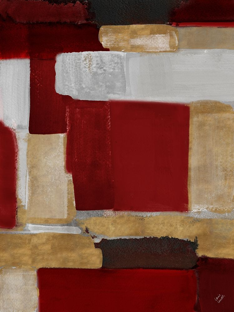 konfigurieren des Kunstdrucks in Wunschgröße Red and Gold Light I von Loreth, Lanie