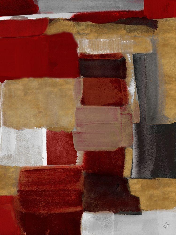 konfigurieren des Kunstdrucks in Wunschgröße Red and Gold Light II von Loreth, Lanie