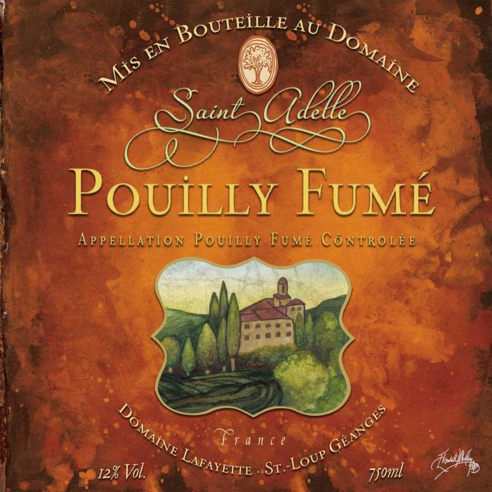 konfigurieren des Kunstdrucks in Wunschgröße Still Life Wine Label Square VI von Baker, Mary Beth