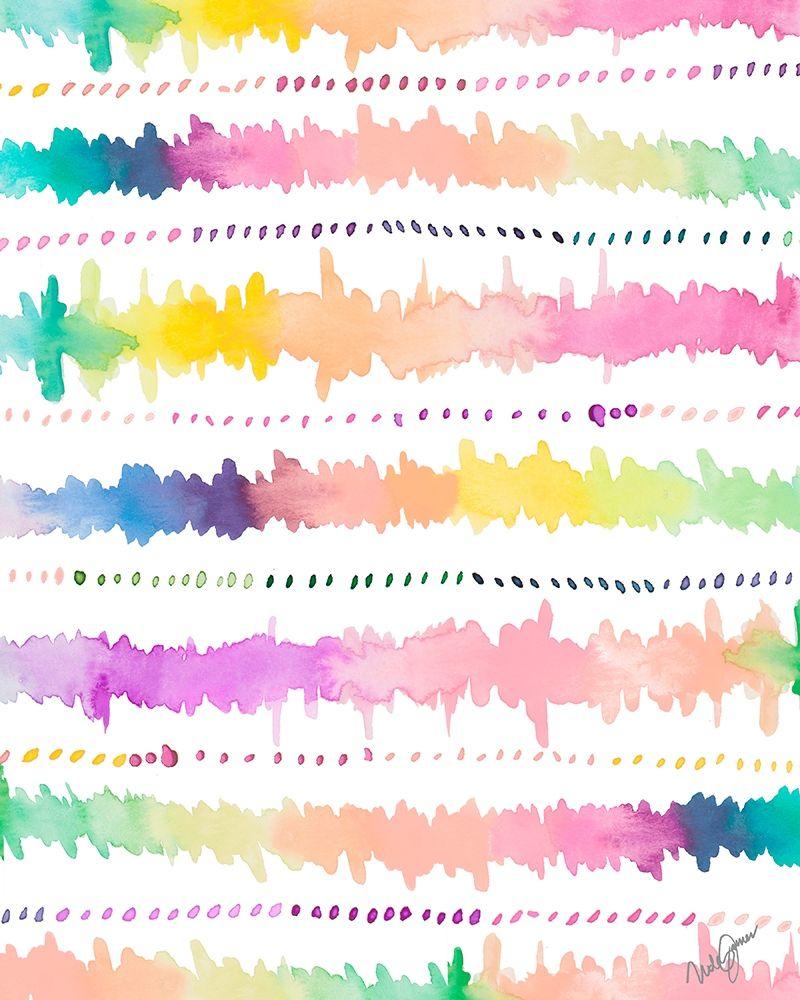 konfigurieren des Kunstdrucks in Wunschgröße Colorful Bands I von James, Nola