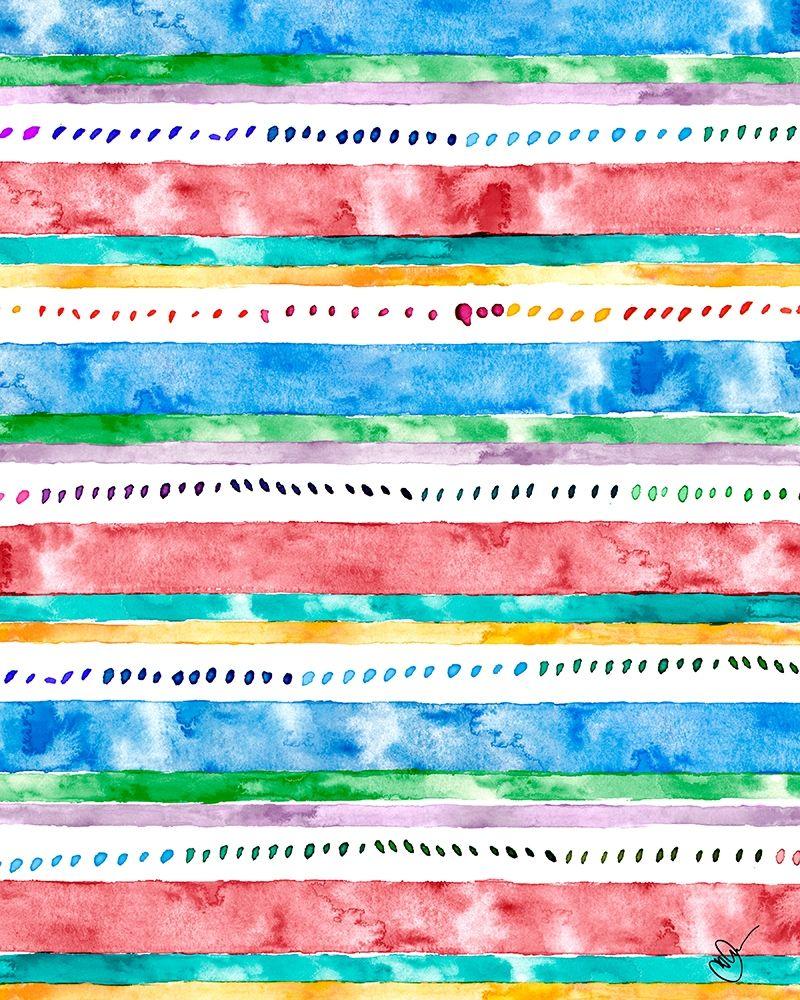 konfigurieren des Kunstdrucks in Wunschgröße Colorful Bands II von James, Nola